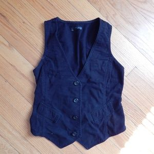 Old Navy Black Vest Sz S